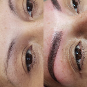 microblading and shading ombre eyebrows in Glendale Ca